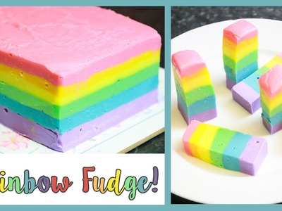 Rainbow. Gay Pride Fudge No Bake Easy Recipe