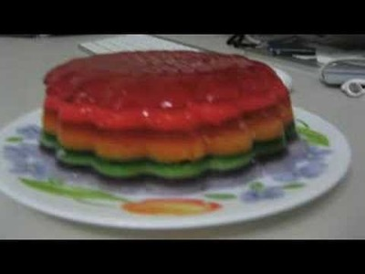 Rainbow jello