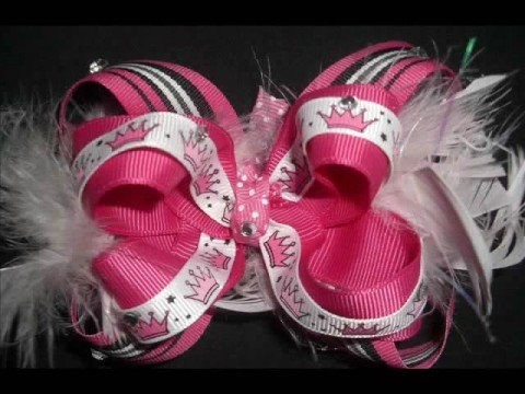 Sew girly girl bows boutique style hair bows