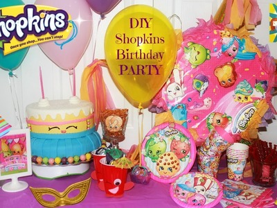 SHOPKINS PARTY  DIY ideas !! Centerpieces ,goodies bags and more.