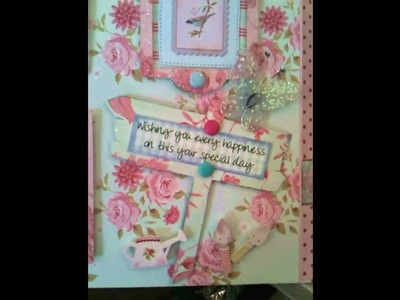 'Show n Tell' - A very special 50th Birthday Card using all sorts of Cricut Cartridges!