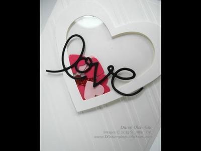 Stampin' Up! Heart Framelit Shaker Card