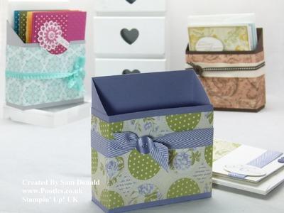 Stampin Up UK Card Holder Box Tutorial