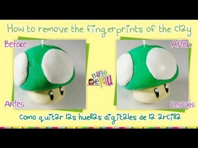 **TIP** How to remove the fingerprints of the clay. Como quitar las huellas digitales de la arcilla
