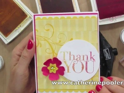 Versamark and Ink Pad Heat Embossing - Stampin' Up Photopolymer Stamps