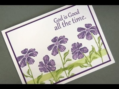 Wild Flowers Clean and Simple Card