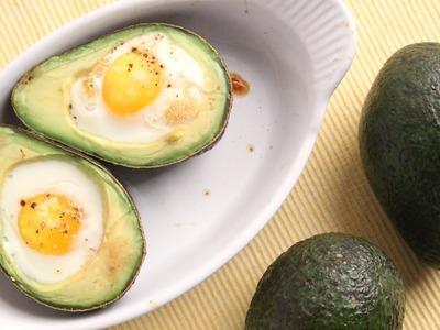 Avocado Baked Eggs Recipe - Laura Vitale - Laura in the Kitchen Episode 938