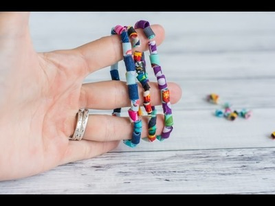 Boho Fabric Bead Bracelet Tutorial Companion