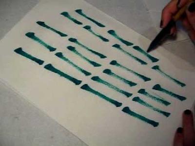 Brush painting for beginner, Stroke 04