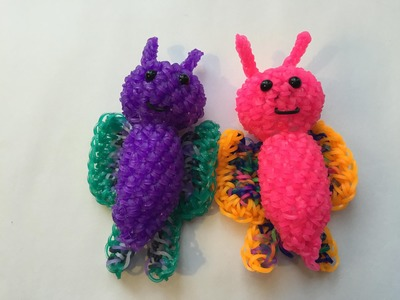 Butterfly Tutorial Rainbow Loom Kawaii Loomigurumi.Amigurumi Hook Only