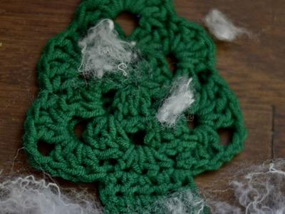 Choinka na szydełku w 7 minut.Tutorial.Christmas crochet in 7 minutes