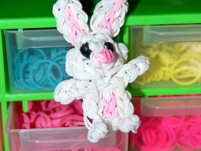 Conejito con gomitas. rabbit rainbow loom