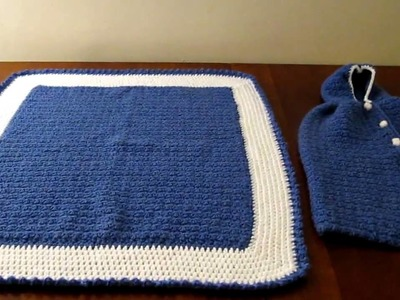 Crochet baby cape and blanket