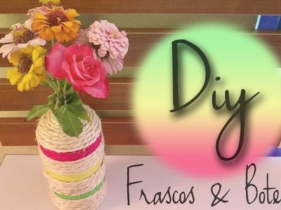 DIY: decora frascos & botellas !