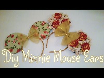 Diy Disney| Floral & Fabric Minnie Mouse Ears