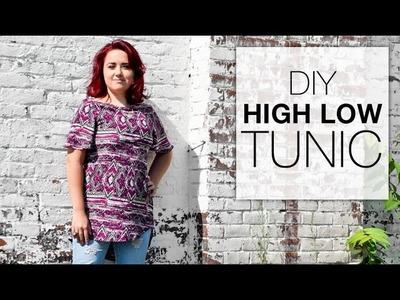 DIY High Low Tunic Tutorial - Free Pattern