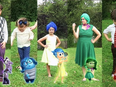 DIY Inside Out Family Halloween Costumes (DIsney Pixar)