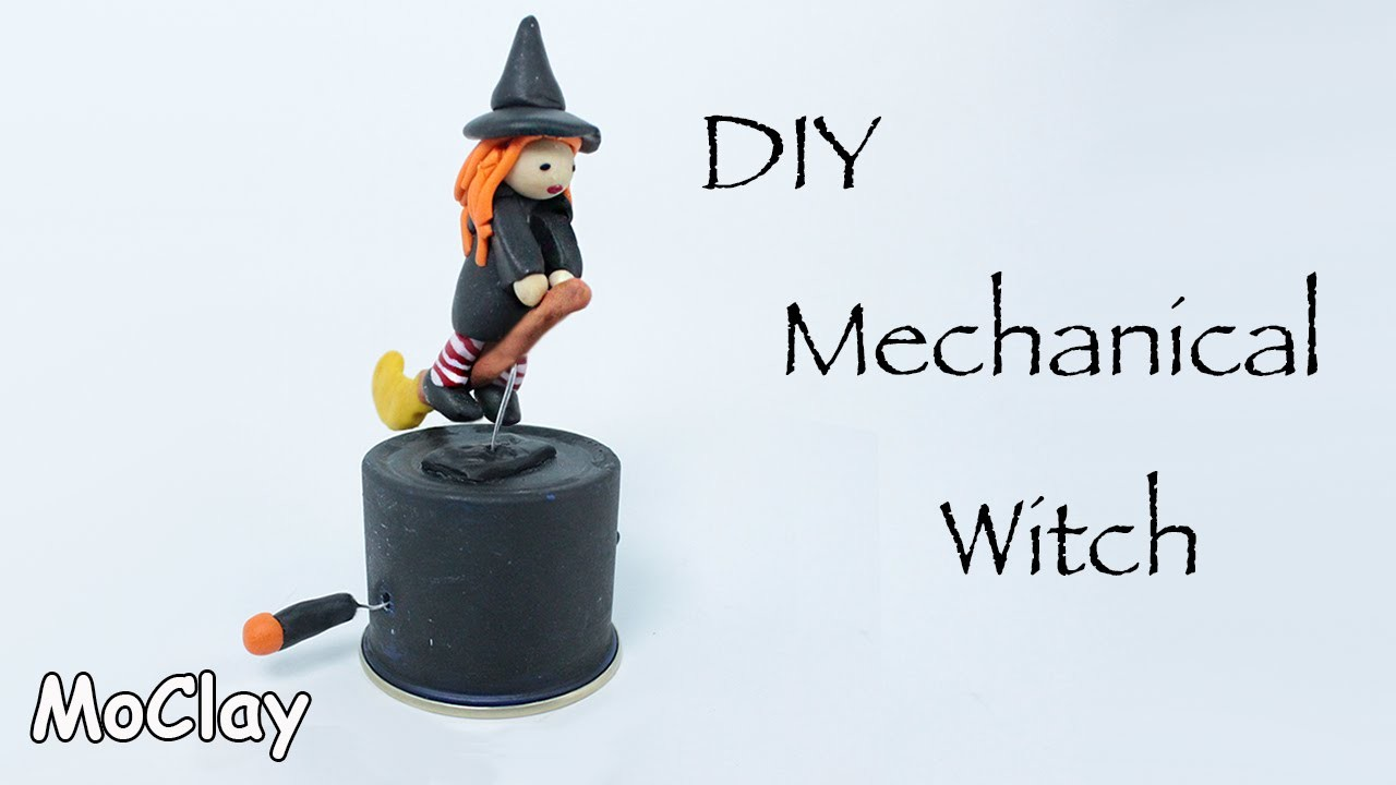 Diy Mechanical Witch - Halloween Polymer clay tutorial
