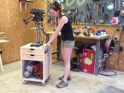 DIY Rolling Drill Press Stand