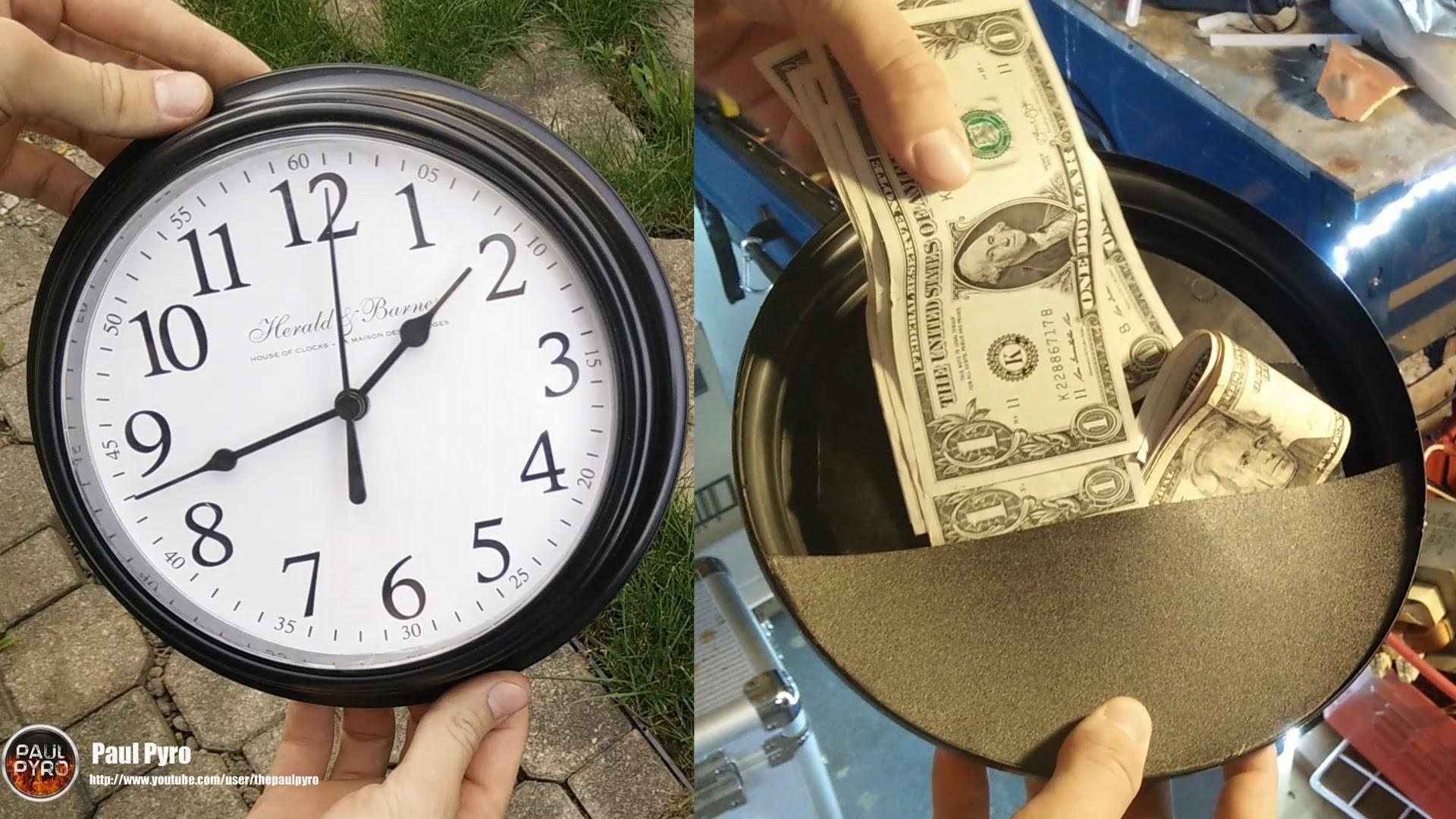 DIY Super Simple Wall Clock Safe - 2$ Project