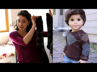 DIY Sweater from a Sock Sewing Tutorial for American Girl Dolls