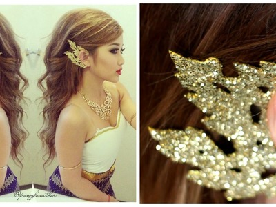 DIY: Traditional Thai.Cambodian Gold Ear Piece