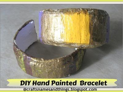 DIY: Turn Plastic Bottles into Bangles Bracelets! DIY Hand Painted Cuff Bracelets.