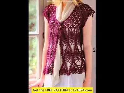 Easy crochet vest pattern