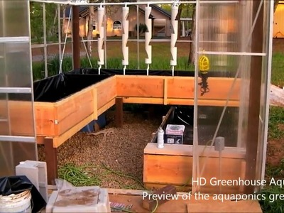 HD Aquaponics Greenhouse - Sneak preview of the nearly finished aquaponics greenhouse