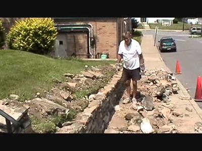 How I build a small stone wall, (part 2 of 4) Mike Haduck