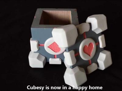 How I made my Companion cube AKA Cubesy