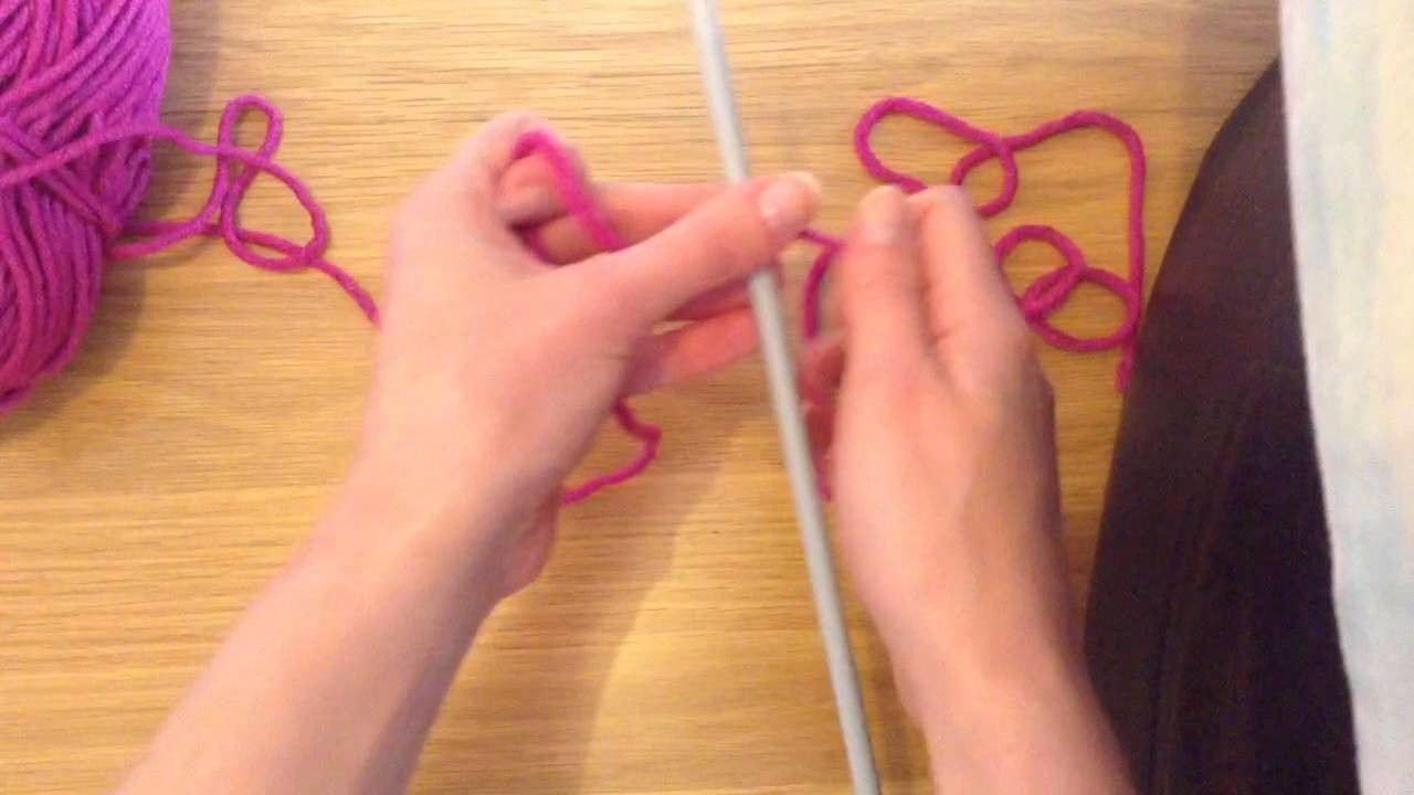 How To Cast On Knitting With The Thumb Method Tutorial