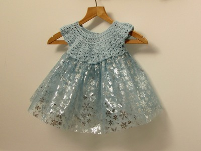 How to crochet a little girl's fairy. princess. tutu dress