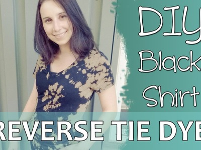 How to DIY Reverse Tie Dye with Black Shirt and Bleach