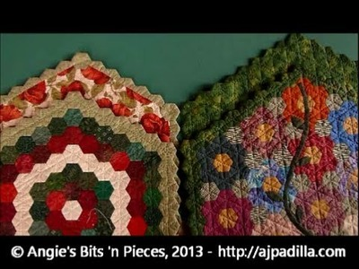How to finish English Paper Piecing projects