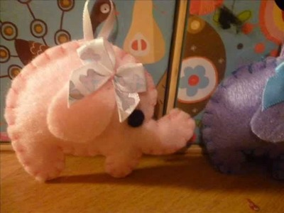 How to Make a Kawaii Elephant Plushie from Felt (Simple Plush Tutorial)