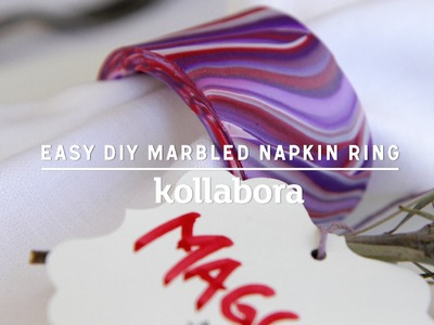 How To Make An Easy DIY Marbled Napkin Ring