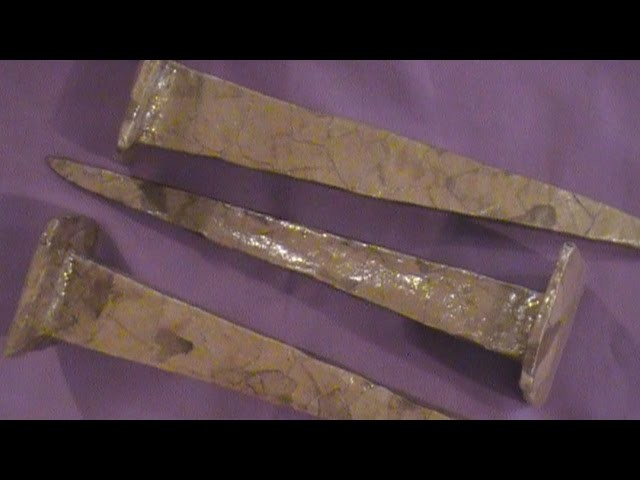 How to Make Crucifixion Nails with Paper Clay