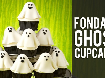 How to Make Fondant Ghost Cupcakes | Halloween Cupcakes