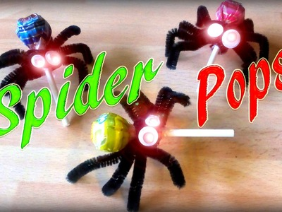 How To Make Spider Lollipops - Halloween Candy No.1 *DIY*