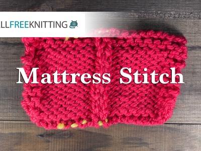 How To: Mattress Stitch