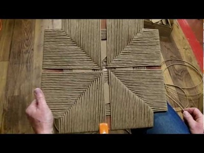 How to Weave a Rush Frame that has no Corners
