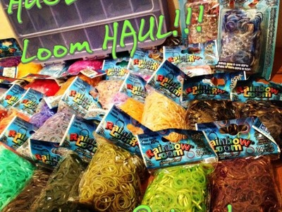 HUGE Rainbow Loom HAUL PART 2 - THE BANDS! + my RL Collection Organised!!