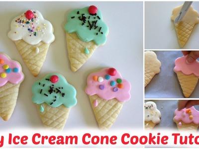 Ice Cream Cone Cookies Tutorial (Easy!)