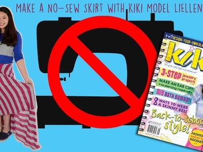 Kiki magazine DIY: make a no-sew circle skirt with cover model LiEllen!