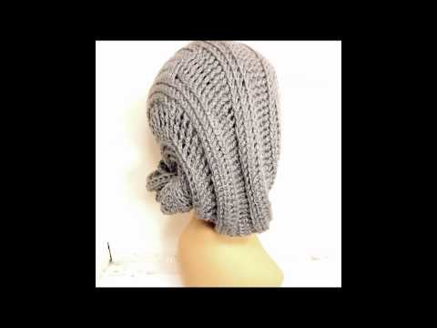 LUNCH LADY Unique Women's Crochet Slouchy Beanie Hat and Pattern Tutorial