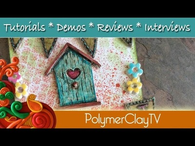 Make a cute Home Sweet Home wall plaque with polymer clay and molds