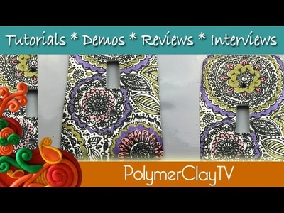 Make a Polymer Clay Silkscreen Light Switch Plate Tutorial