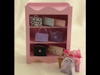 Make a unique mini chipboard wardrobe keepsake