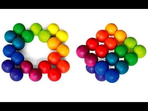 Million Shapes Rainbow Art Ball ~ Incredible Science